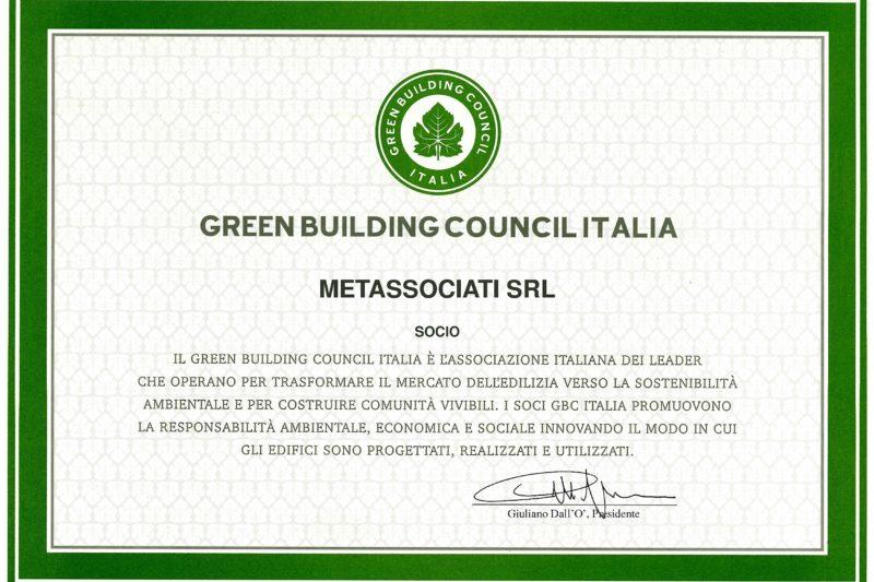 Metassociati è socio del Green Building Council Italia