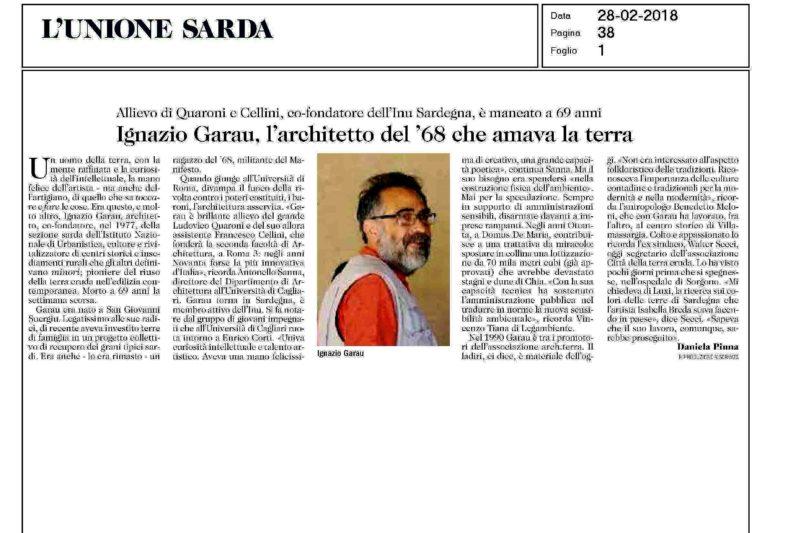 Ignazio Garau – Architetto e urbanista, co-fondatore della Sezione Sardegna dell'INU